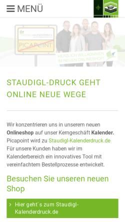 Vorschau der mobilen Webseite www.picapoint.de, Picapoint – Staudigl-Druck GmbH & Co. KG