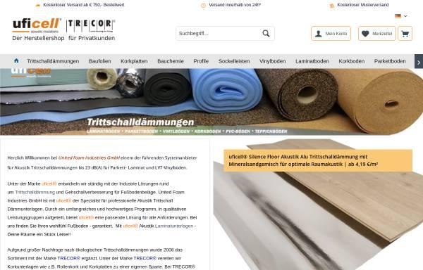 Vorschau von www.ufishop.de, United Foam Industries GmbH