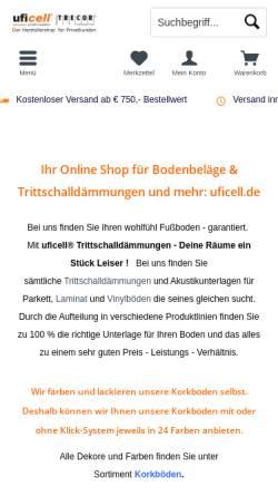 Vorschau der mobilen Webseite www.ufishop.de, United Foam Industries GmbH