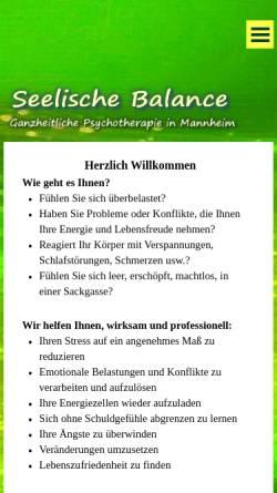 Vorschau der mobilen Webseite www.seelischebalance.de, Psychologische Praxis Ralf Gast