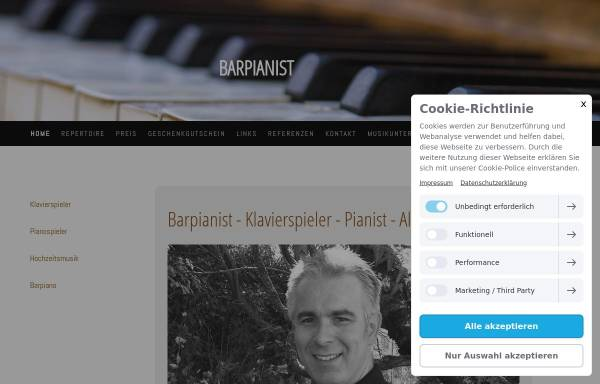 Vorschau von barpiano-pianist.de, Barpianist Christian Gobmeier