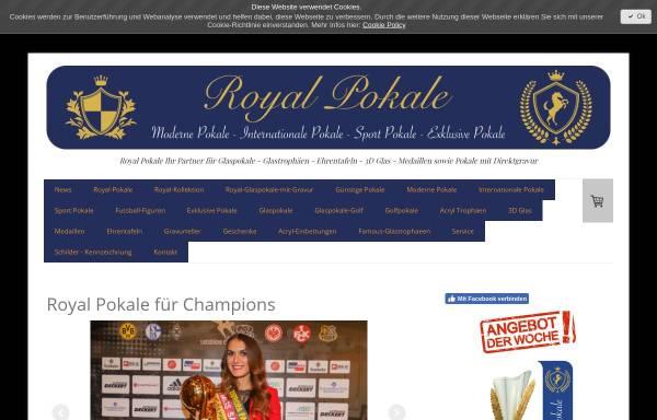 Vorschau von www.royal-pokale.com, Royal-Pokale