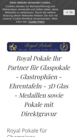 Vorschau der mobilen Webseite www.royal-pokale.com, Royal-Pokale