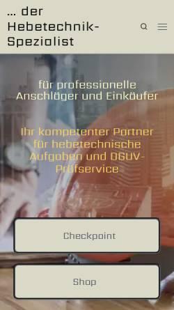 Vorschau der mobilen Webseite LSundS.com, LS+S Lifting Supply + Service GmbH