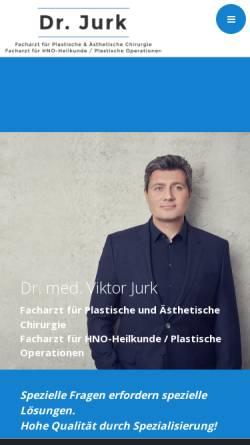 Vorschau der mobilen Webseite www.drjurk.eu, Dr. med. Viktor Jurk