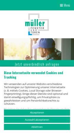 Vorschau der mobilen Webseite www.qualitaetsfenster.com, Müller Fensterbau GmbH