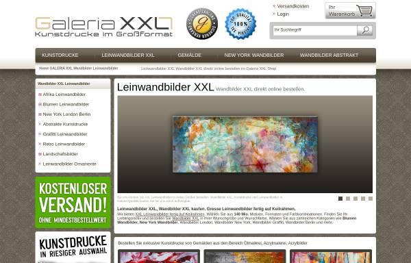Vorschau von www.galeria-xxl.de, Galeria XXL