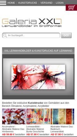 Vorschau der mobilen Webseite www.galeria-xxl.de, Galeria XXL