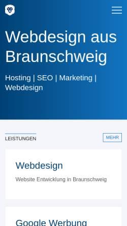 Vorschau der mobilen Webseite www.webdesign-aus-braunschweig.de, Webdesign aus Braunschweig - Christoph Gniadek