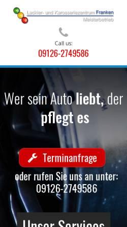 Vorschau der mobilen Webseite www.lackiererei-franken.de, Lackier- und Karosseriezentrum Franken