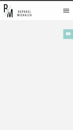 Vorschau der mobilen Webseite www.michalek-fotografie.de, Raphael Michalek Fotografie