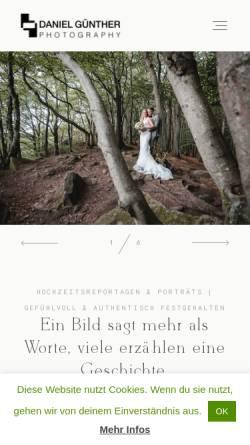 Vorschau der mobilen Webseite www.danielguenther.com, Daniel Günther Photography