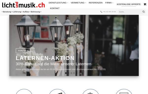 Vorschau von lichtundmusik.ch, Lichtundmusik.ch GmbH