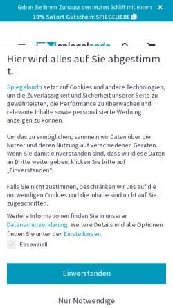 Vorschau der mobilen Webseite www.spiegelando.de, Spiegelando