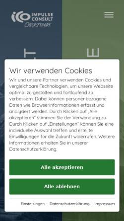 Vorschau der mobilen Webseite ico-oberstdorf.com, ICO Oberstdorf GmbH