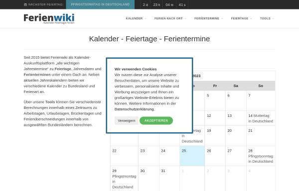 Vorschau von www.ferienwiki.de, ferienwiki - Webdetail GmbH