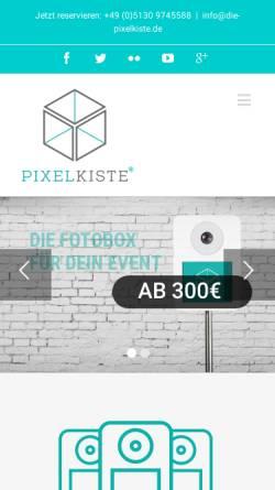 Vorschau der mobilen Webseite www.die-pixelkiste.de, Die Pixelkiste - Traxel & Traxel GbR