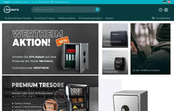 Vorschau von www.tresoro.at, Tresoro.at - SECUREO GmbH
