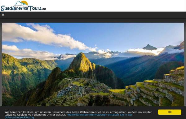 Vorschau von suedamerikatours.de, Südamerika Tours