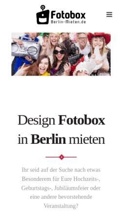 Vorschau der mobilen Webseite www.fotobox-berlin-mieten.de, Daniel Gresser Fotobox-Berlin-Mieten.de