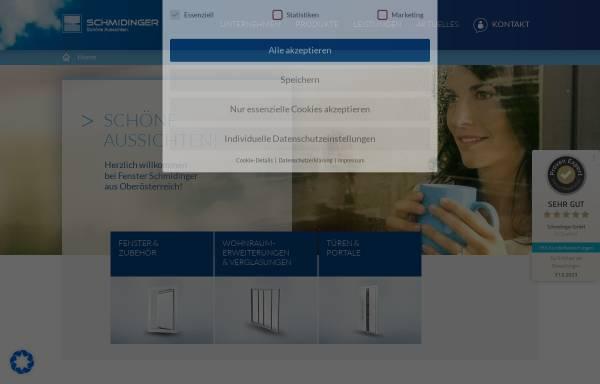 Vorschau von www.fenster-schmidinger.at, Schmidinger GmbH