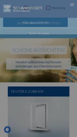 Vorschau der mobilen Webseite www.fenster-schmidinger.at, Schmidinger GmbH