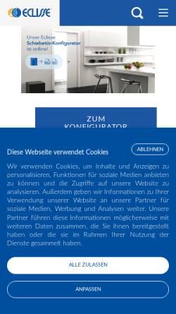 Vorschau der mobilen Webseite www.eclisse.at, Eclisse GmbH