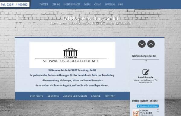 Vorschau von www.hausverwaltung-latinum.de, LATINUM Verwaltungs GmbH
