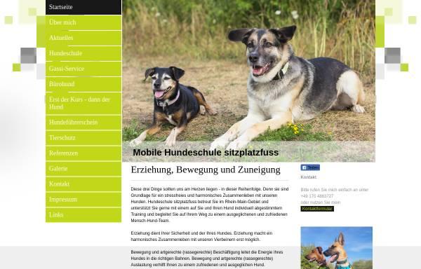 Vorschau von www.sitzplatzfuss.net, Hundeschule sitzplatzfuss