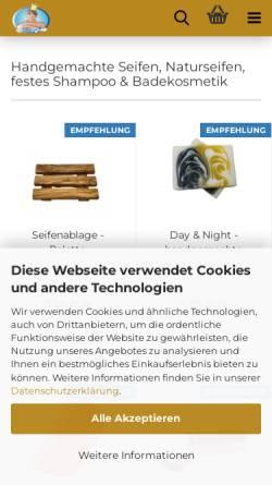 Vorschau der mobilen Webseite www.seifenprinz.at, Seifenprinz