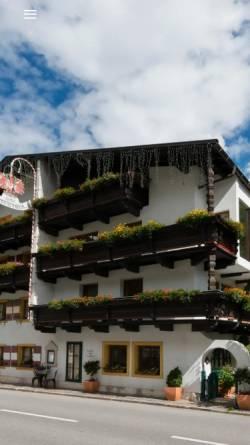 Vorschau der mobilen Webseite www.kirchenwirt-pitztal.at, Hotel und Gasthof Kirchenwirt