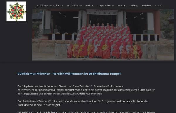 Vorschau von www.buddhismusmuenchen.de, Bodhidharma Tempel München