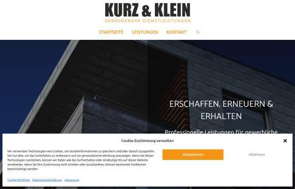 Vorschau von www.kurzundklein.gmbh, Kurz & Klein GmbH