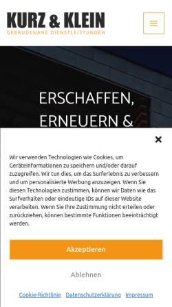 Vorschau der mobilen Webseite www.kurzundklein.gmbh, Kurz & Klein GmbH
