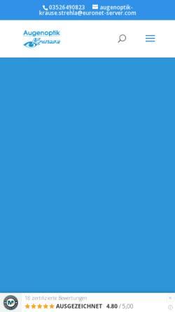 Vorschau der mobilen Webseite www.augenoptik-krause.info, Augenoptik Krause