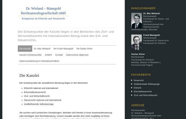 Vorschau von www.radrwieland.de, Kanzlei Dr. Max Wieland