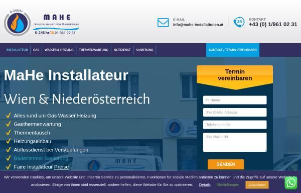 Vorschau von mahe-installationen.at, MaHe Installationen KG
