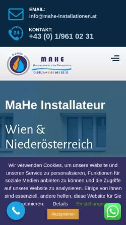 Vorschau der mobilen Webseite mahe-installationen.at, MaHe Installationen KG