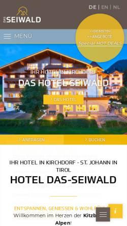 Vorschau der mobilen Webseite www.hotel-seiwald.com, Hotel Seiwald