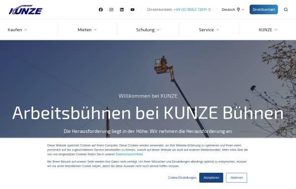 Vorschau von www.kunze-buehnen.com, Kunze GmbH