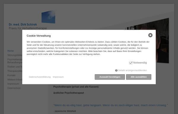 Vorschau von praxis-schirok.de, Psychotherapie Dr. med. Dirk Schirok