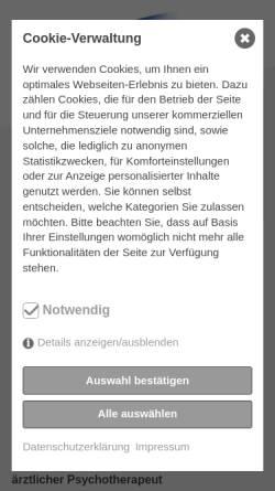 Vorschau der mobilen Webseite praxis-schirok.de, Psychotherapie Dr. med. Dirk Schirok