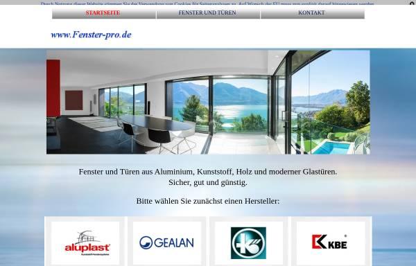 Vorschau von www.fenster-pro.de, Fenster-Pro - Johannes Geier