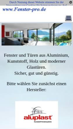 Vorschau der mobilen Webseite www.fenster-pro.de, Fenster-Pro - Johannes Geier