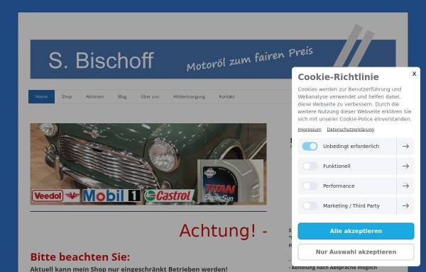 Vorschau von www.motoroel-bischoff.de, Motoröl S. Bischoff