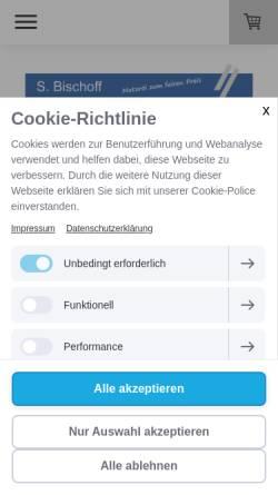 Vorschau der mobilen Webseite www.motoroel-bischoff.de, Motoröl S. Bischoff