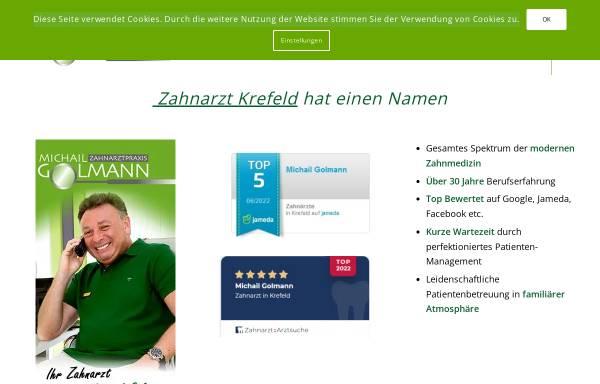 Vorschau von www.zahnarztpraxis-in-krefeld.de, Zahnarzt Michail Golmann