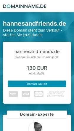 Vorschau der mobilen Webseite hannesandfriends.de, HANNESANDFRIENDS – Strategische Marketing-Beratung