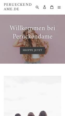 Vorschau der mobilen Webseite www.perueckendame.de, Perückendame