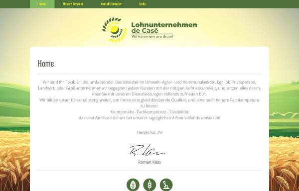Vorschau von www.lu-de-case.de, Lohnunternehmen de Casê - Inh. Roman Käss